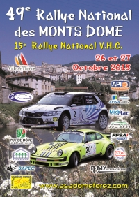 affiche Rallye National des Monts Dôme